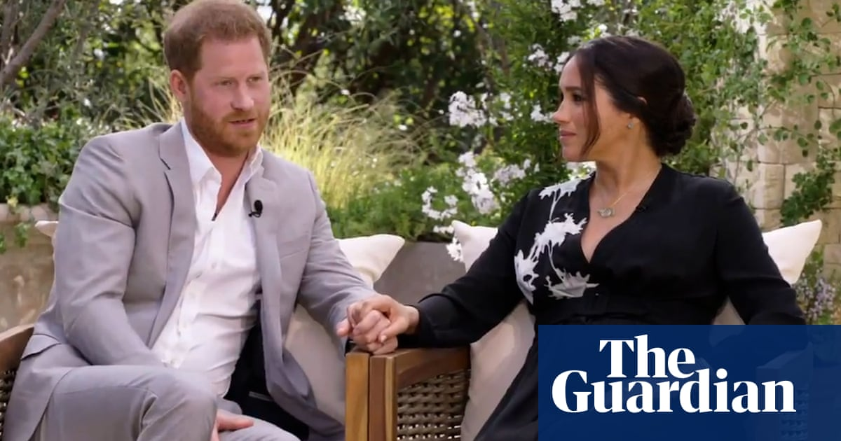 Prince Harry tells Oprah Winfrey of his worry of Diana history repeating – video