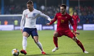Ross Barkley in action against Montenegro