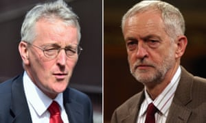 Composite of shadow foreign secretary Hilary Benn (left) and Labour leader Jeremy Corbyn
