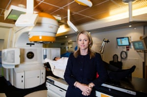 Dr Bronwyn King at the Epworth radiation oncology department in Melbourne, Australia.
