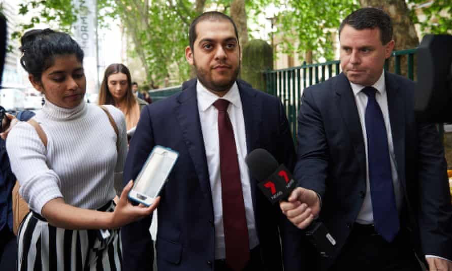 Mohamed Nizamdeen's lawyer, Moustafa Kheir, leaves Sydney Central Local Court