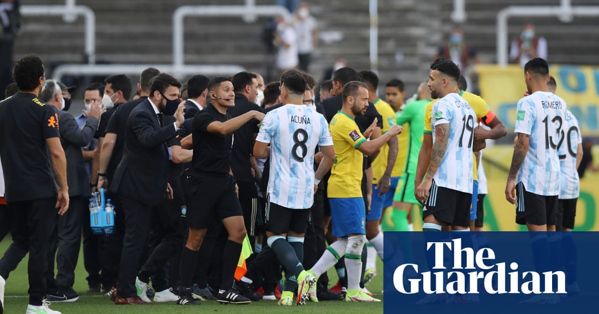 Brazil v Argentina abandoned as health authorities invade pitch