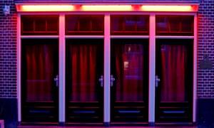 Jendela di distrik lampu merah Amsterdam