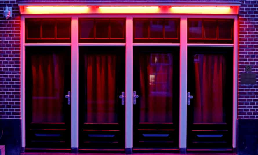 Windows in the red light district of Amsterdam