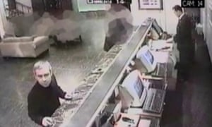 CCTV footage of Dmitry Kovtun at the Millennium hotel, where he and Andrei Lugovoi met Litvinenko on 1 November 2006.