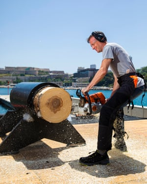 Tim Dowling at the Timbersports Champions Trophy in Marseille