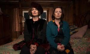 Anna Chancellor as Auntie Viv and Colman as Deborah.