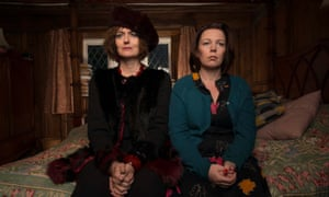 Anna Chancellor as Auntie Viv and Olivia Colman as Deborah Flowers in Channel Four's new dark comedy.
