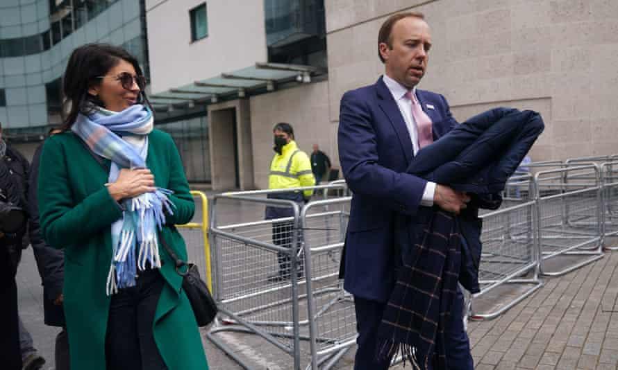 Matt Hancock with his former adviser Gina Coladangelo