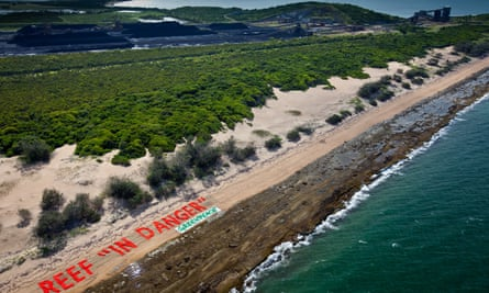 Protests about possible damage to the Great Barrier Reef helped persuade Deutsche Bank to withdraw from the Abbot Point coal port scheme in 2014.
