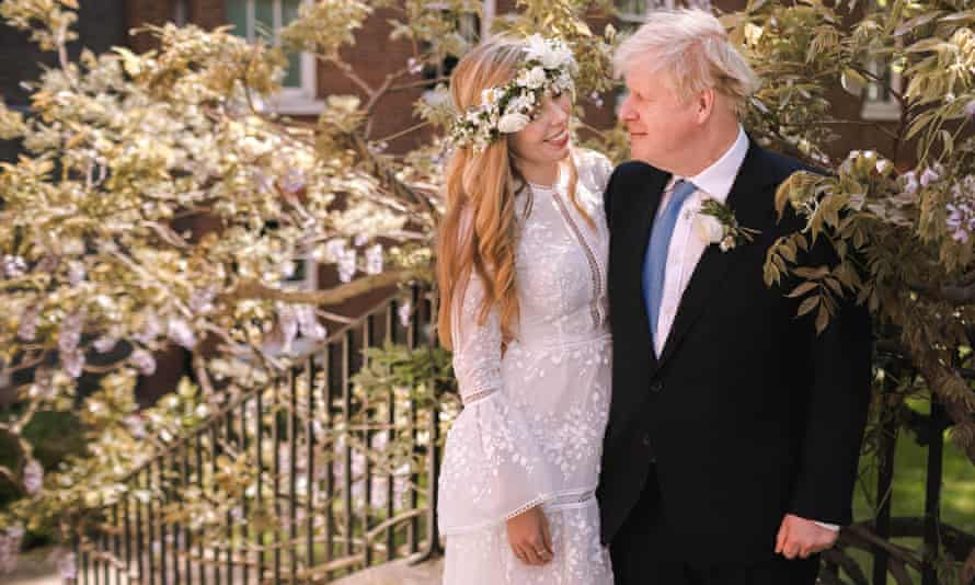 Carrie and Boris Johnson on their wedding day.
