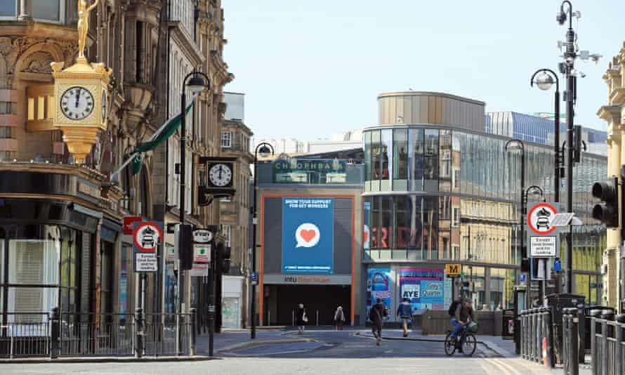 Empty streets in Newcastle in April