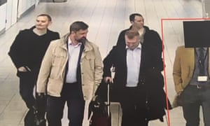 The four Russians identified as GRU officers by the Dutch