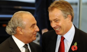 Sir Philip Green with Tony Blair in 2006