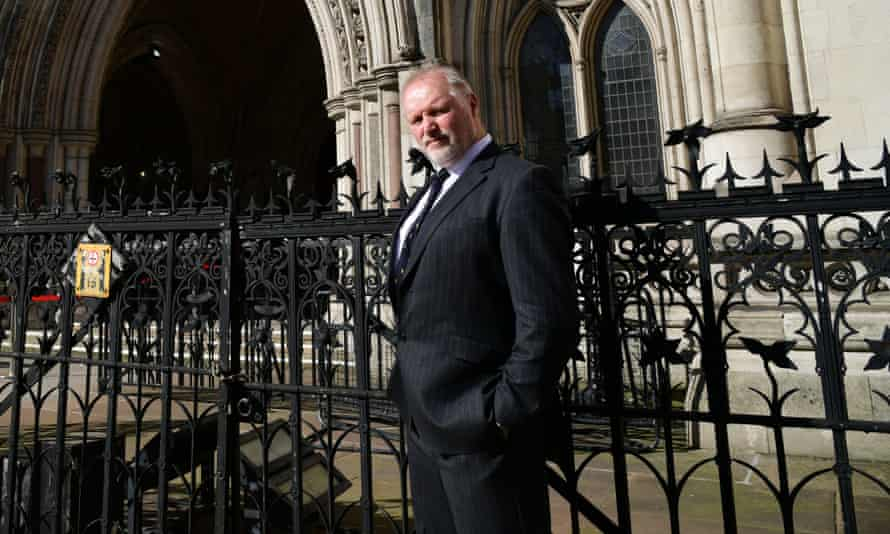 Former police officer Harry Miller outside the Royal Courts of Justice, London.