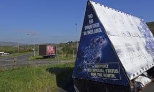 Sign opposing EU border in Ireland