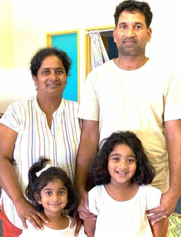 Detained Tamil family Priya, Nades Murugappan and their Australian-born daughters Kopika and Tharnicaa.
