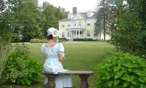 Getting into character … a guest at a Jane Austen weekend at Governor's House.