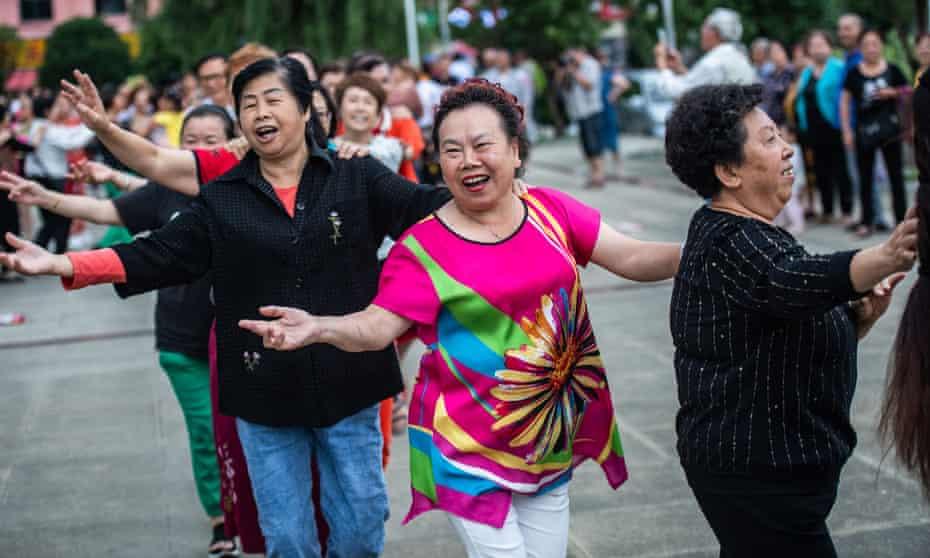 Square dancers in China's Guizhou province