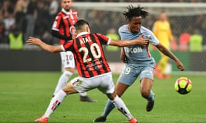 Monaco's Gelson Martins in action during the 2-0 defeat at Nice, which saw Leonardo Jardim's side end the season in 17th place, with just 36 points.