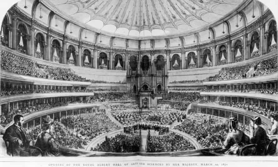 The opening of the Royal Albert Hall of Arts and Sciences by Queen Victoria, 29 March 1871. Original publication: The Graphic