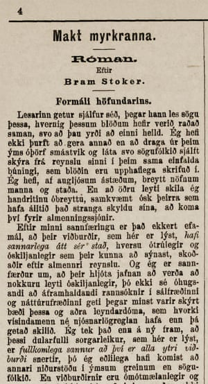 Makt Myrkranna by Valdimar Asmundsson in the newspaper Fjallkonan