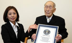 Japanese centenarians' honorary gifts hit by austerity as