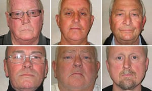 Members of the gang who carried out the Hatton Garden burglary: (top row left to right) John Collins, Daniel Jones, Terry Perkins, (bottom row left to right) Carl Wood, William Lincoln and Hugh Doyle
