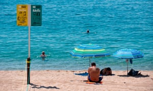New safety signs on beaches in Lloret de Mar. 'The government is determined to save the summer season.'