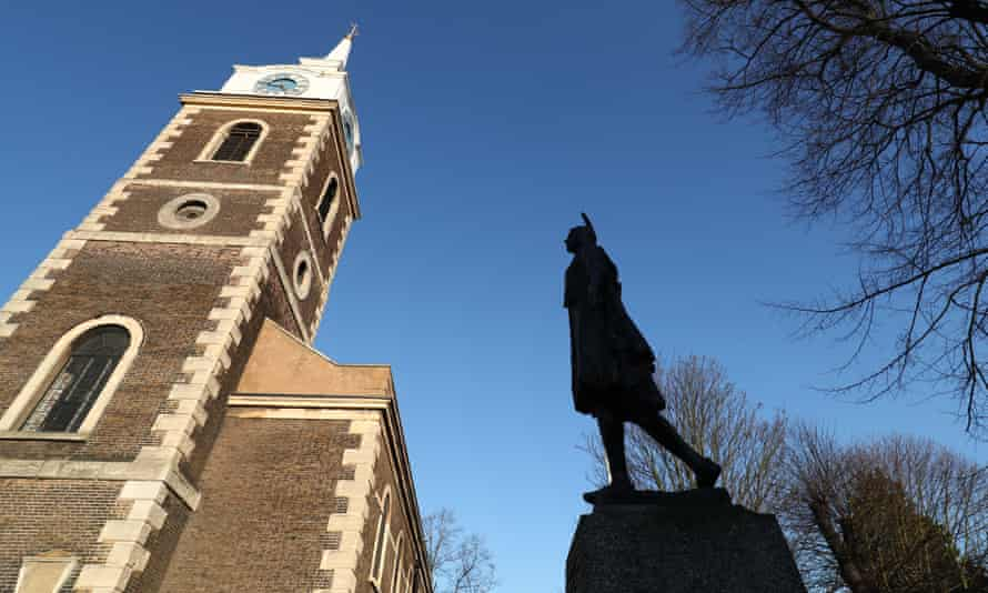 The Grade II-listed statue of Pocahontas in Gravesend, Kent