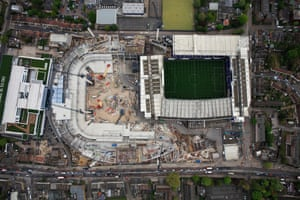 Aerial Views of Tottenham Hotspur's White Hart Lane Redevelopment
