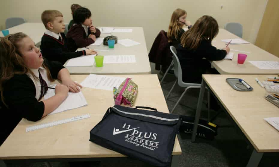 Children in Kent are coached for the 11-plus exam