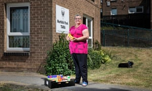 Kim McMaster, coordinator of the FareShare scheme for the Norfolk Park Tenants and Residents Association, Sheffield.