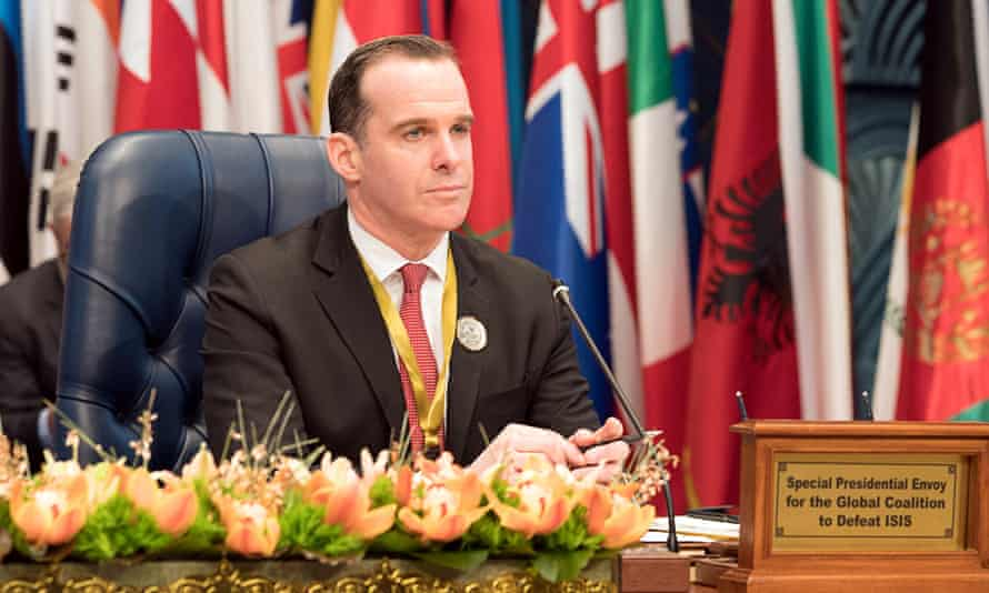 Brett McGurk attends a conference in Kuwait earlier this year.
