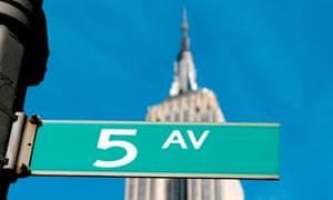 5th Avenue street sign, New York