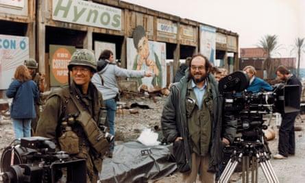 Made in England … Kubrick on the set of Vietnam war film Full Metal Jacket.