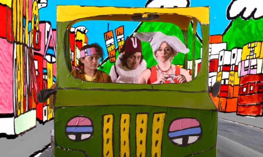 Alia Shawkat as Emily, Adam Green as Aladdin and Natasha Natasha Lyonne as Mom in Adam Green's Aladdin.Z jeep