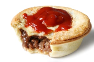 A classic Australian meat pie, nominated by Jake Smyth as his favourite Australian snack.
