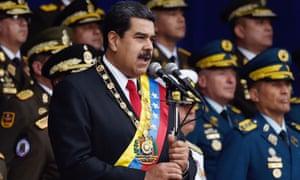 Nicolás Maduro delivers a speech in Caracas on 4 August.