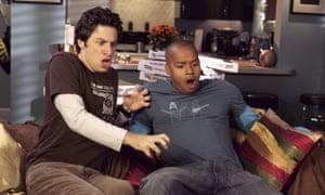 Zach Braff and Donald Faison in Scrubs.