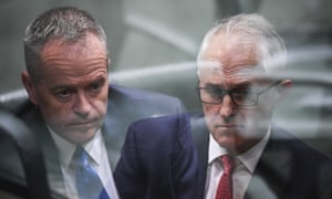 """Opposition leader Bill Shorten (left) and prime minister Malcolm Turnbull. 'Polls dictate the day's political """"story"""", prompt instant analysis, and give context for the coverage of issues'"""