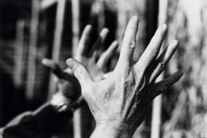John Warren Mobley Stipe Jr's hands, Grady Avenue, Athens, 1993