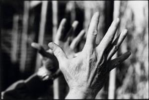 John Warren Mobley Stipe Jr's hands, Grady Avenue, Athens, 1993.