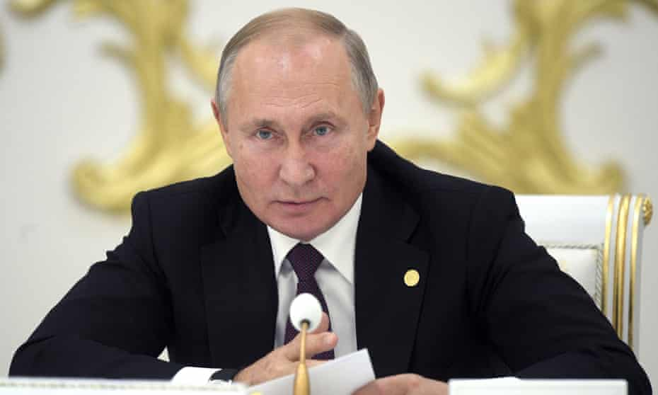 Vladimir Putin was speaking at a meeting of leaders of ex-Soviet states in Ashgabat.