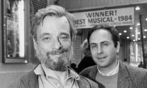 Teamwork … Stephen Sondheim and James Lapine won the Pulitzer prize and Tony awards for their first collaboration Sunday in the Park With George.