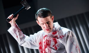 Blood, glorious blood ... Matt Smith in the Almeida production of the American Psycho musical.