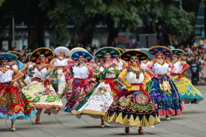 Mexico City S Day Of The Dead Parade 2018 In Pictures World News The Guardian