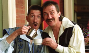 The Chuckle Brothers in Snow White in 1993 at Wolverhampton Grand theatre.