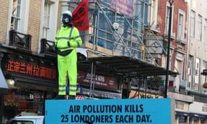 An Extinction Rebellion protest in London on 9 December 2019.