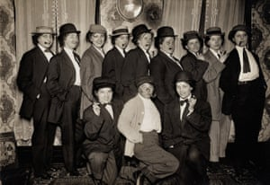 """""""Taken at stag given by Fillie & Amanda"""" … is the caption on this group of women in Milwaukee, Wisconsin, February 1912."""